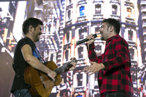 Los hermanos Muñoz actuaron ante el público navarro el viernes 15 de noviembre.
