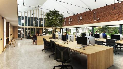 La firma navarra Rypples reconvertirá la antigua harinera Huici-Leidán en un centro de producción audiovisual.