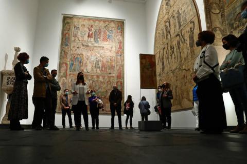 Fotos de la nueva sala del Museo de Navarra