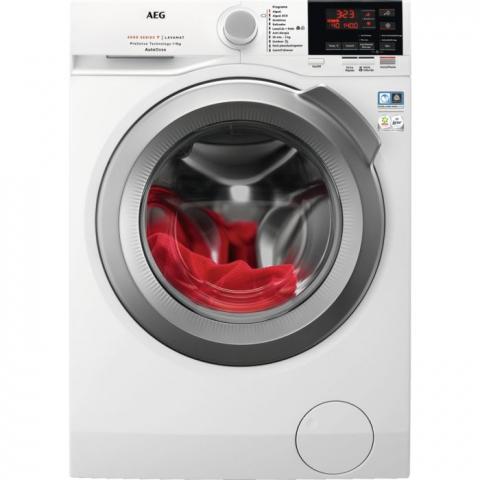 Lavadora AEG L6FBG942Q. 569 € Clase C • 9 kg •  1.400 rpm • Prosense: ahorra tiempo, agua y energía • SoftPlus: mejora la distribución del suavizante • Eco TimeSave: lavado eficiente en el menor tiempo • APP My AEG: controla el lavado desde tu móvil