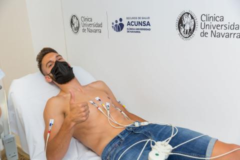 Primer día de pruebas médicas en la pretemporada de Osasuna
