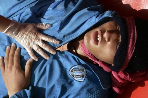 Joven marroquí rescatado después de días a la deriva