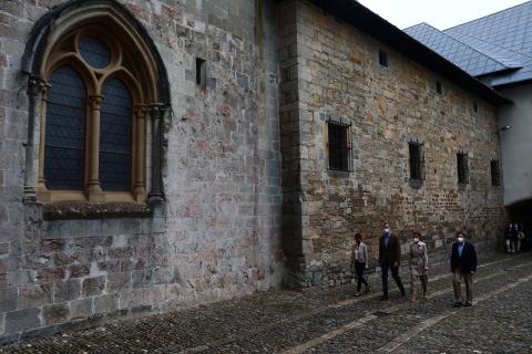Visita de los Reyes a Roncesvalles.