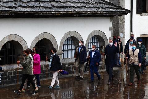 Visita de los Reyes a Roncesvalles