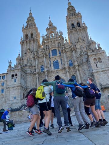 15 jóvenes de Navarra concluyen el 'Xacobeo Joven' tras 12 días de travesía