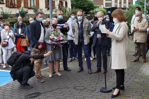 Homenaje en Leitza con motivo del 20 aniversario del asesinato del concejal de UPN, José Javier Múgica