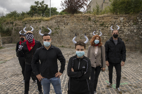 Pamplona acogió el 'Encierro del ajedrez' con 6 jugadores compitiendo contra 80 personas
