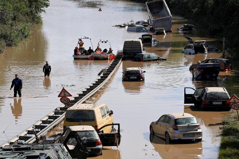 Históricas inundaciones en el oeste de Alemania.
