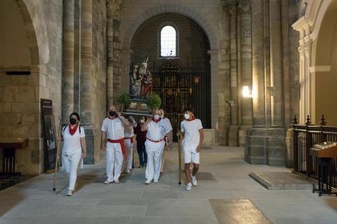 La Catedral de Tudela acogió la misa en honor a la patrona de la capital ribera
