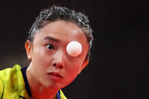 Aficionados australianos durante el partido de tenis de mesa femenino