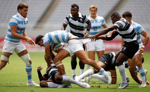 Argentina y Fiji de rugby