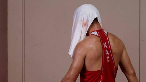 Derrota del boxeador kazajo