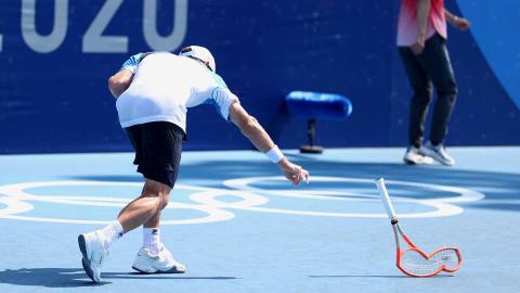 Enfado del tenista argentino Diego Schwartzman