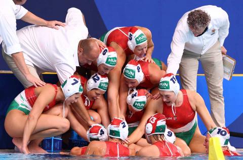 Equipo húngaro de waterpolo