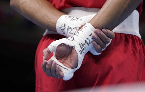 Manos del boxeador británico