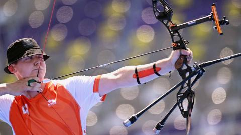 Participante neerlandés de tiro con arco