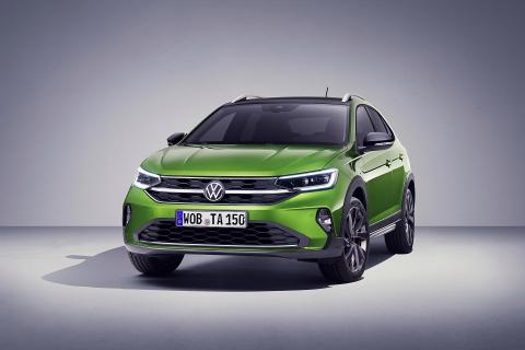 Puesta de largo del modelo Taigo, nuevo SUV coupé de Volkswagen, que se fabricará en la planta de VW Navarra en Landaben
