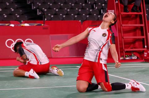 Celebración indonesia de badminton