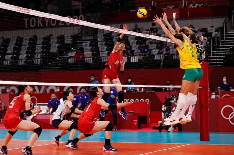Duelo entre Japón y Brasil de vóley