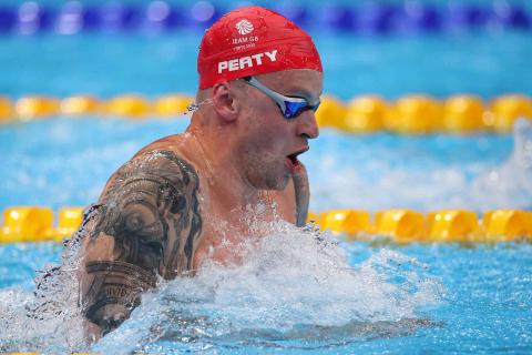 El nadador británico Adam Peaty