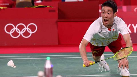 El representante japonés de badminton