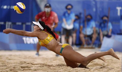 Jugadora brasileña de vóley playa