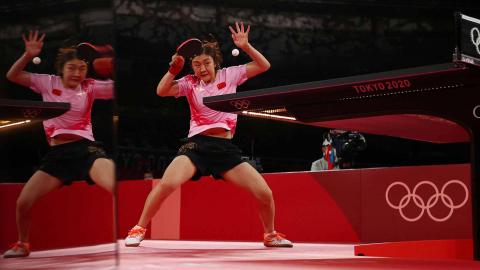 Jugadora china de tenis de mesa