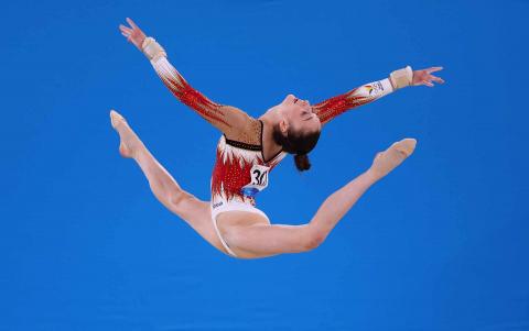 La representante belga de gimnasia