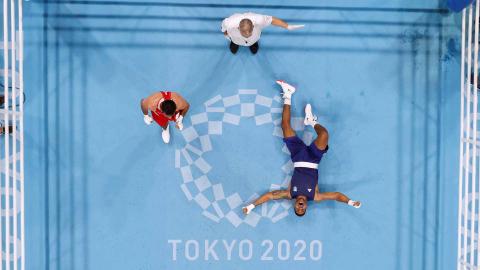 Combate de boxeo entre el representante de Brasil y Jordania