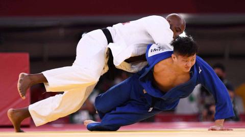 Duelo entre Francia y Japón de judo