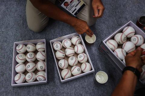 Selección de pelotas de béisbol