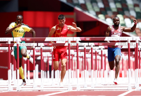Asier Martínez ha entrado en la gran final de 110 metros vallas en su primera participación olímpica