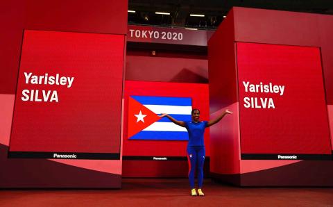 La atleta cubana Yarisley Silva