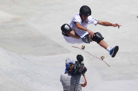 Skater americano durante su prueba