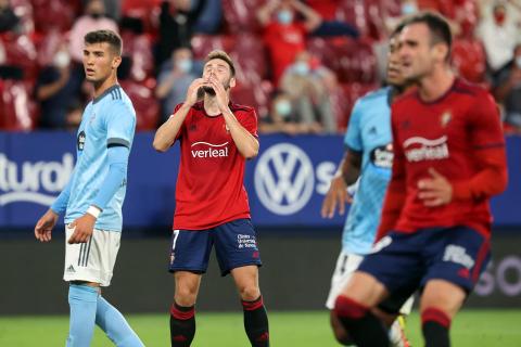 Fotos del partido Osasuna-Celta de Vigo en El Sadar.