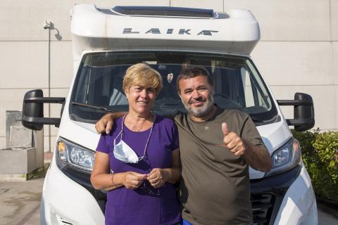 Fotos de las autocaravanas en Pamplona.