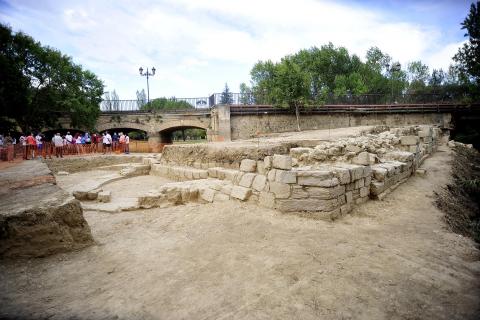 Excavación en la antigua ermita del Pero en Peralta.A DE LA VIRGEN DEL PERO