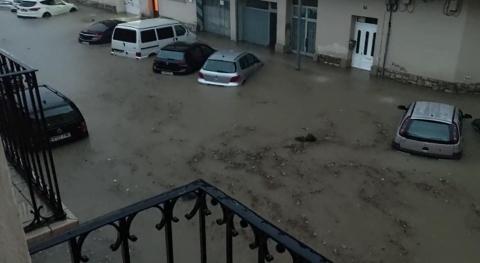 Tudela amanece inundada tras recibir 43 litros por metro cuadrado