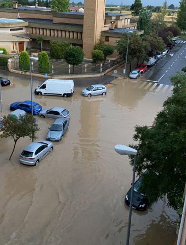 Fotos de las incidencias causadas por las tormentas en Navarra