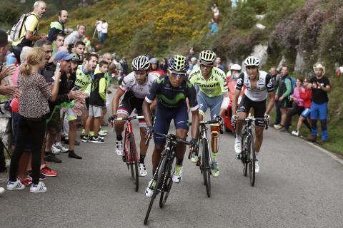 El colombiano Nairo Quintana, uno de los referentes del Movistar en los últimos años, logró un espectacular triunfo en Lagos de Covadonga en 2016