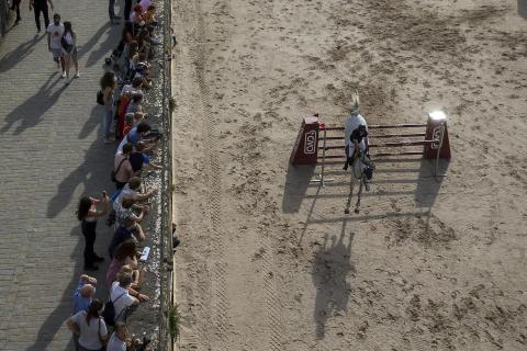 Gran Premio Las Murallas de hípica, en la Ciudadela de Pamplona