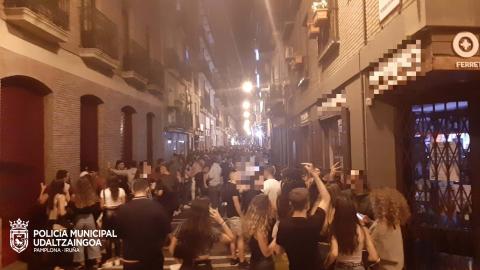 Noche del jueves 2 de septiembre en Pamplona