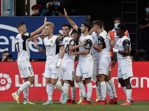 Imagen del partido Osasuna-Valencia de la jornada 4 de la LigaSantander