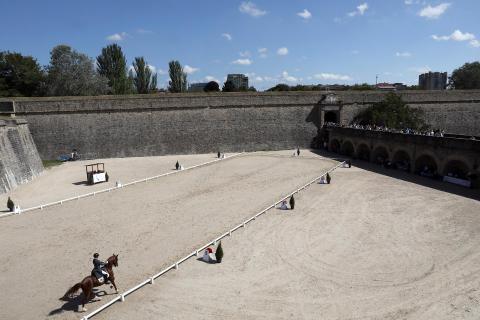 Imagen del Gran Premio Murallas de Pamplona celebrado en la Ciudadela.