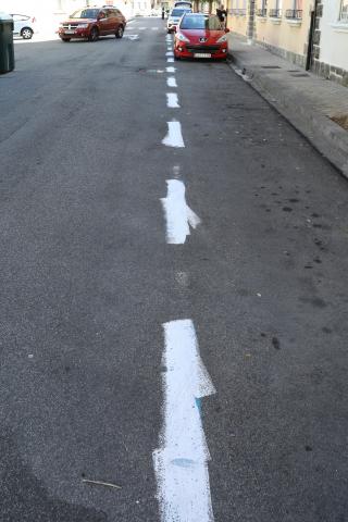 Nuevo sabotaje en la zona azul de la Txantrea, con mil plazas pintadas de blanco