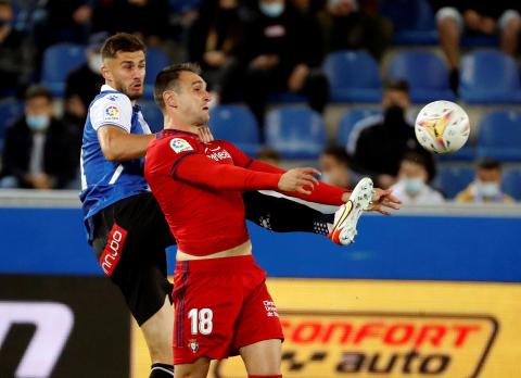 Imágenes del partido Alavés Osasuna.