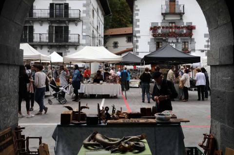 Feria del talo en Leitza