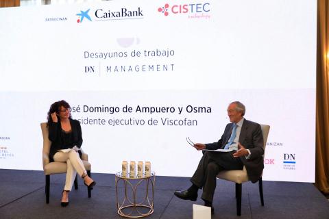 José Domingo de Ampuero y Osma, presidente de Viscofan, en los Desayunos de Trabajo DN Management