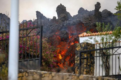 Fotos de la erupción del volcán Cumbre Vieja en La Palma.