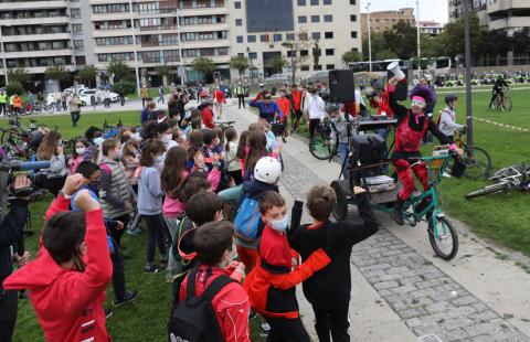 Bicicletada en Pamplona